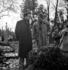 Orson Welles und Carol Reed am Set.